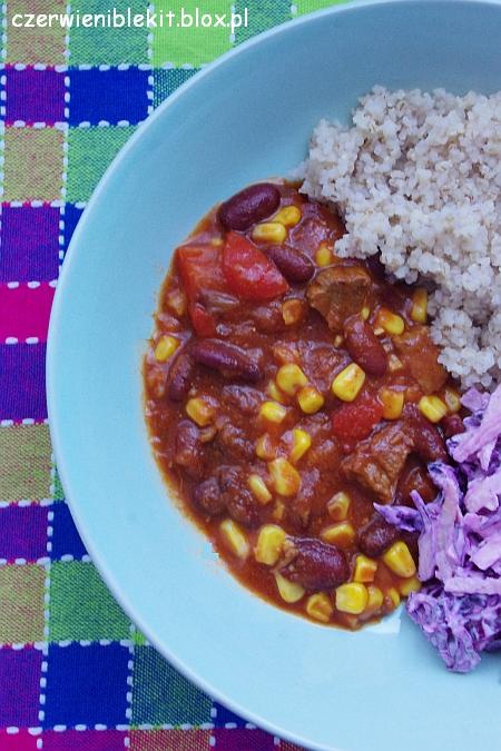 Chili con carne z krojoną wołowiną