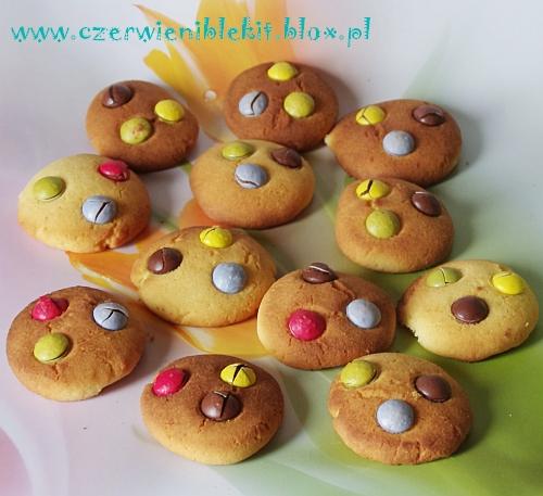 Mleczne ciasteczka z Lentilkami