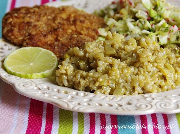 Limonkowe risotto z brązowego ryżu