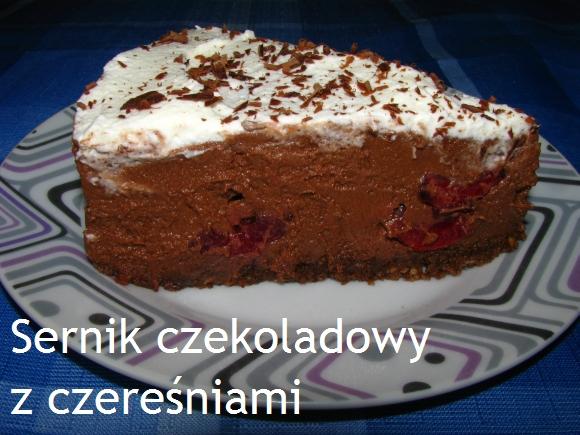 Sernik czekoladowy z czereśniami (gotowany)