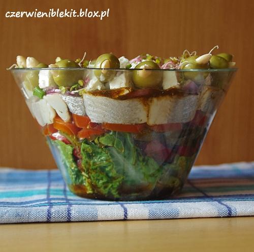 Śledż a la sałatka grecka