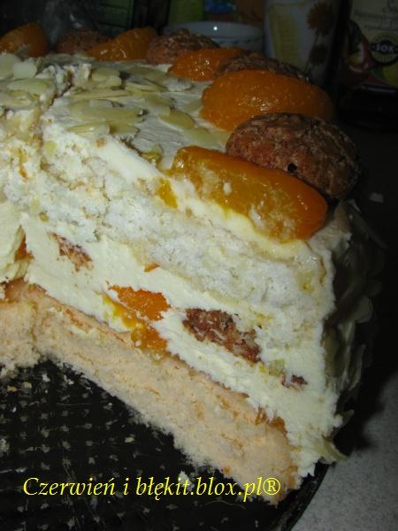 Tort migdałowo-pomarańczowo-mandarynkowy