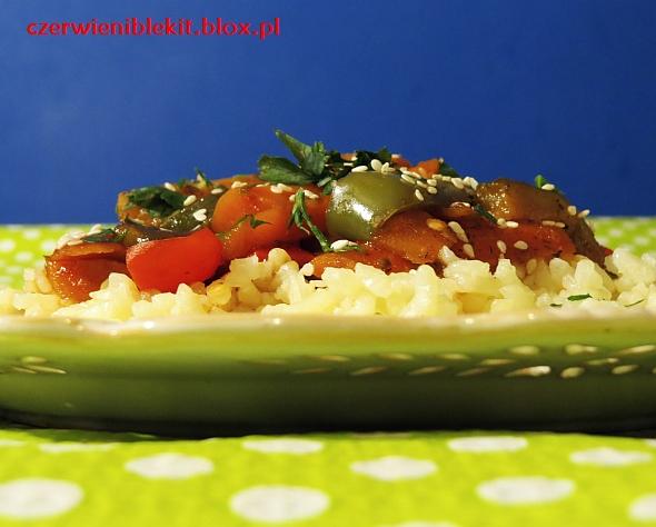 Warzywa pieczone w słodko kwaśnej marynacie